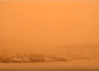 sandstorm north korea, sandstorm north korea march 2016, sandstorm north korea 2016, dust storm north korea pictures, sandstorm north korea pictures march 2016