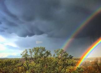 double rainbow mammatus clouds newark delaware, double rainbow mammatus clouds newark delaware picture, photo of double rainbow mammatus clouds newark delaware, mammatus double rainbow picture, double rainbow and mammatus appear in the sky of delaware