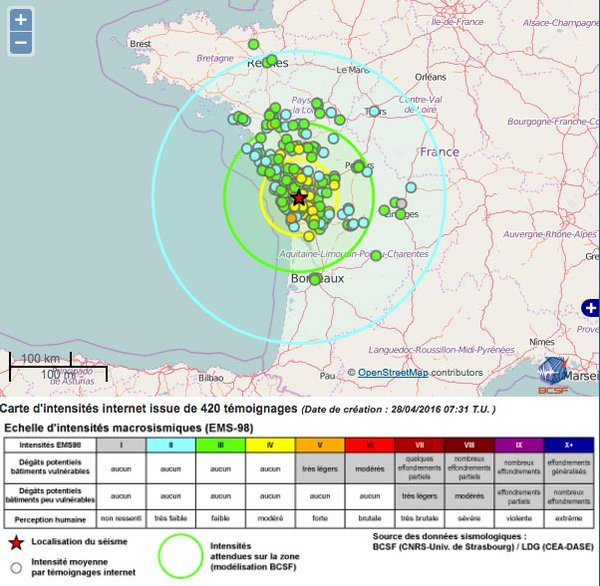 earthquake south france april 28 2016, earthquake la rochelle, earthquake france april 28 2016, earthquake la rochelle france april 28 2016, tremblement de terre la rochelle, seisme la rochell avril 28 2016
