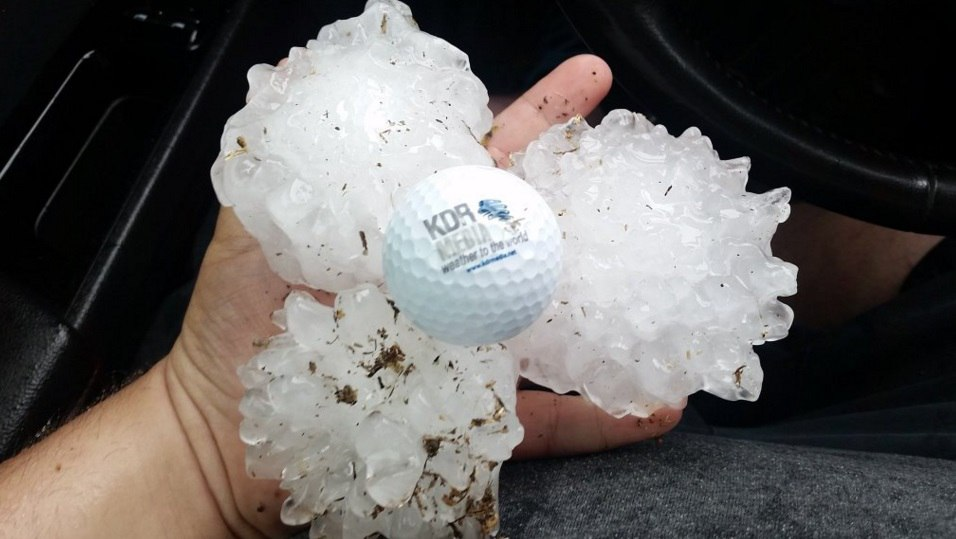 Crazy Hailstorm Hammers Texas With Hail The Size Of