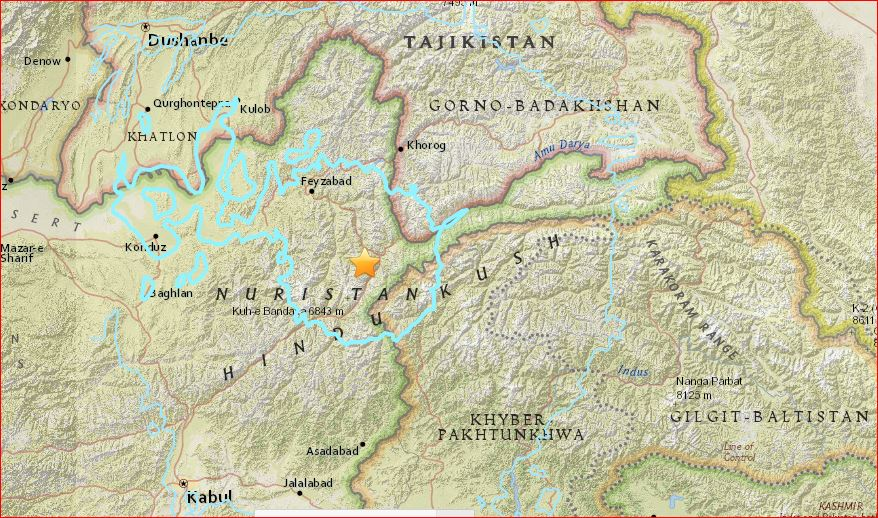 m6.6 earthquake afghanistan april 10 2016, strong earthquake hits afghanistan, powerful earthquake afghanistan april 10 2016