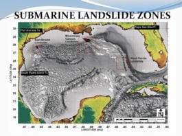 tsunami landslide louisiana, tsunami could destroy louisiana, mississippi canyon landslide, mississippi canyon landslide could trigger tsunami to destroy louisiana, tsunami threat louisiana, louisiana threatened by tsunami landslide