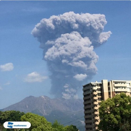 Sakurajima Volcano eruption may 2 2016, Sakurajima Volcano eruption may 2 2016 japan, japan Sakurajima Volcano eruption may 2 2016 pictures, volcanic unrest 2016, ring of fire increased activity 2016, 3 volcanoes erupt may 2 2016, lkatest volcanic eruption may 2 2016