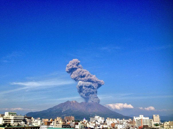 Sakurajima eruption may 13 2016, Sakurajima eruption may 13 2016 pictures