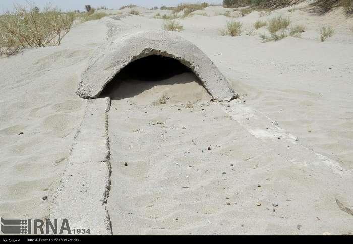 biblical sandstorm buries village iran, giant sandstorm bury villages iran, village buried iran sandstorm, sanstorm iran village buried, buried village dust storm iran, iran sandstorms burry villages
