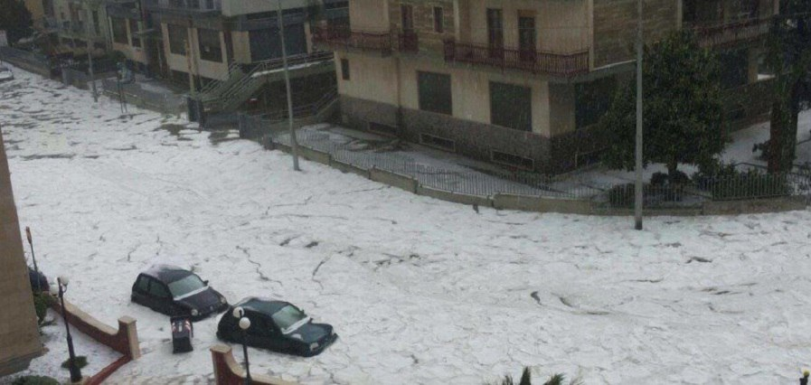Image result for hailstorm in italy
