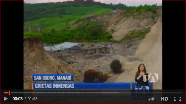 giant crack san isidro ecuador earthquake, giant crack ecuador earthquake, giant crack san isidro ecuador earthquake video, giant crack san isidro ecuador earthquake photo, giant earth cracks ecuador earthquake may 2016, En San Isidro aparecen inmensas grietas tras el terremoto, grietas san isidro, san isidro imensas grietas video
