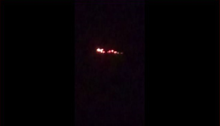 Mysterious Burning Object Flies In The Sky Of India Video Strange