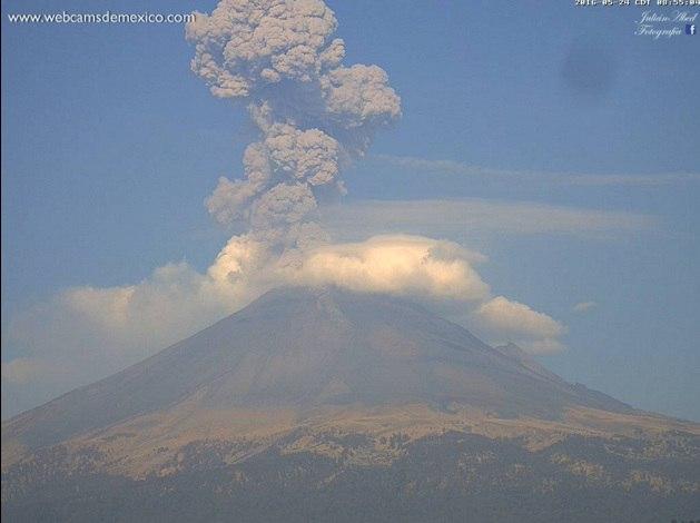 popocatepetl eruption may 2016, popocatepetl eruption may 2016 video, popocatepetl eruption may 2016 photo