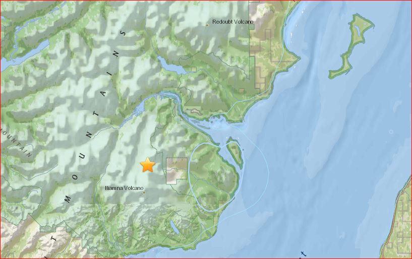 Alaska Map Volcano.M4 7 Earthquake Hits Near Redoubt Volcano And Iliamna Volcano