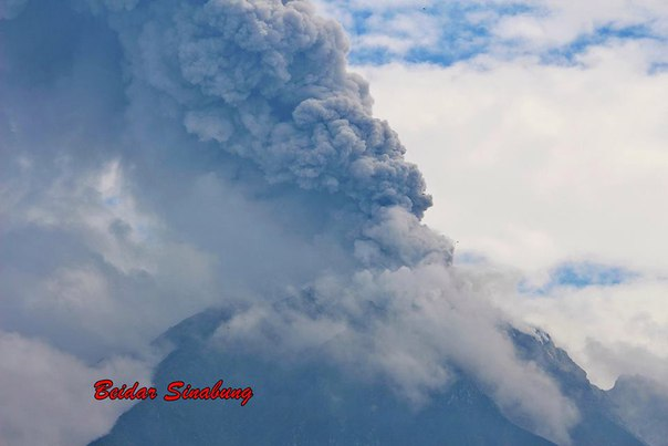 Sinabung eruzione del vulcano 14 maggio 2016