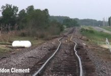 tornado bends railway tracks chapman kansas, tornado chapman bends train tracks, tornado bends Union Pacific Railroad track chapman kansas, kansas tornado bends railway tracks, railway tracks bend by tornado chapman kansas, chapman tornado railway tracks may 26 2016 picture