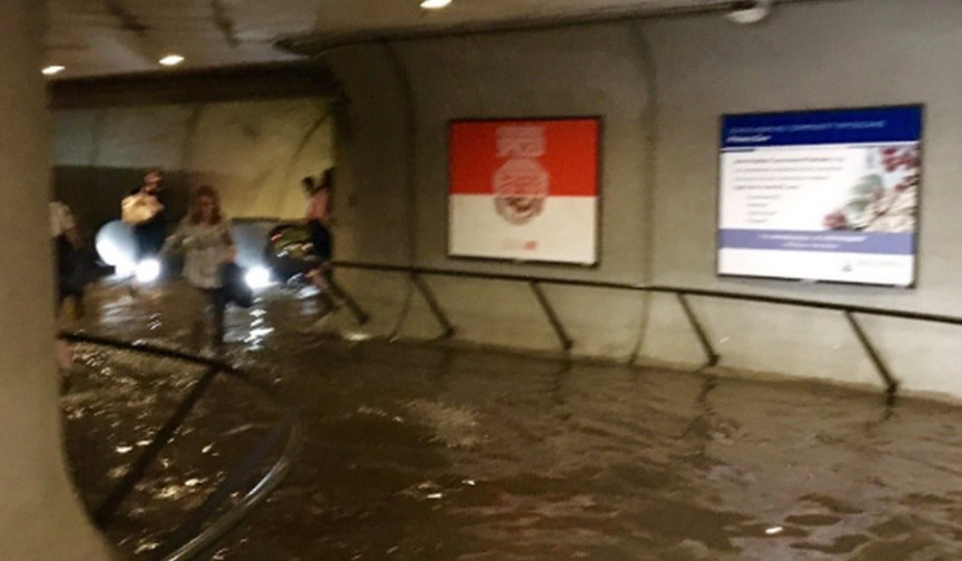 D.C. Subway Station Closed Due to Flooding, Cleveland Park Metro station flash flooding, Cleveland Park Metro station flash flooding turns escalator into waterfalls, Cleveland Park Metro station flash flooding june 21 2016, Cleveland Park Metro station flash flooding june 2016, Cleveland Park Metro station flash flooding video, Cleveland Park Metro station flash flooding pictures, The flooding turned escalators into waterfalls washington DC