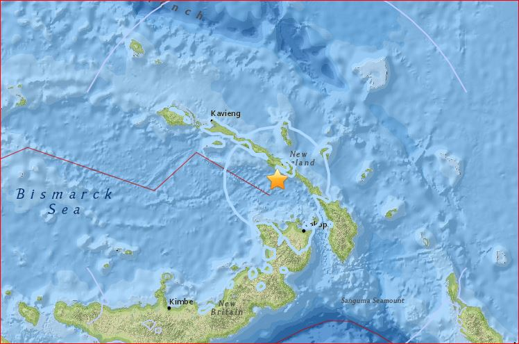 Two powerful M6.1 earthquakes hit Papua New Guinea and Mid-Atlantic Ridge  M6.1-earthquake-papua-new-guinea-june-21-2016
