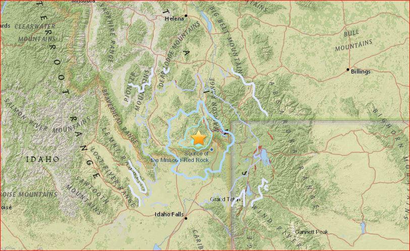 earthquake west yellowstone, earthquake west yellowstone june 13 2016, unusual earthquake earthquake yellowstone june 13 2016, montana earthquake june 13 2016
