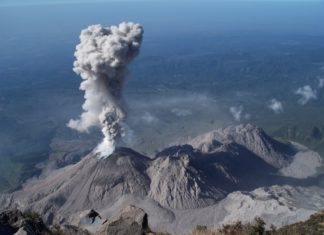 lahar santiaguito volcano june 2016, lahar santiaguito volcano june 2016 video, heavy rains create lahars at santiaguito volcano, santiaguito volcano lahar june 2016