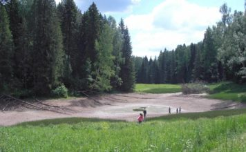 lake disappears overnight russia, lake drained by sinkhole in russia, sinkhole swallows lake and fish russia, lake drained by sinkhole russia, lake disappears in sinkhole russia june 2016