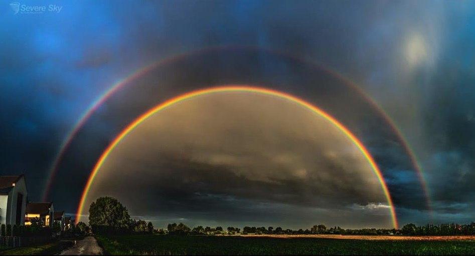magic portal double rainbow poland, magic rainbow, double rainbow,, magic portal double rainbow poland photo, magic portal double rainbow poland picture
