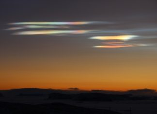 nacreous clouds antarctica, nacreous clouds antarctica june 2016, nacreous clouds antarctica june 17 2016, nacreous clouds antarctica picture, nacreous clouds antarctica photo, nacreous clouds antarctica image, nacreous clouds Bharati Indian Base Station