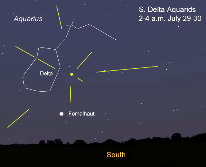 Delta Aquarid meteor shower, Delta Aquarid meteor shower 2016, delta aquarids, delta aquarids 2016