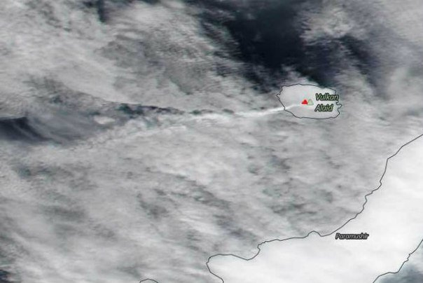 alaid volcano eruption july 2016, alaid volcano eruption july 2016 pictures, thermal anomaly mount alaid