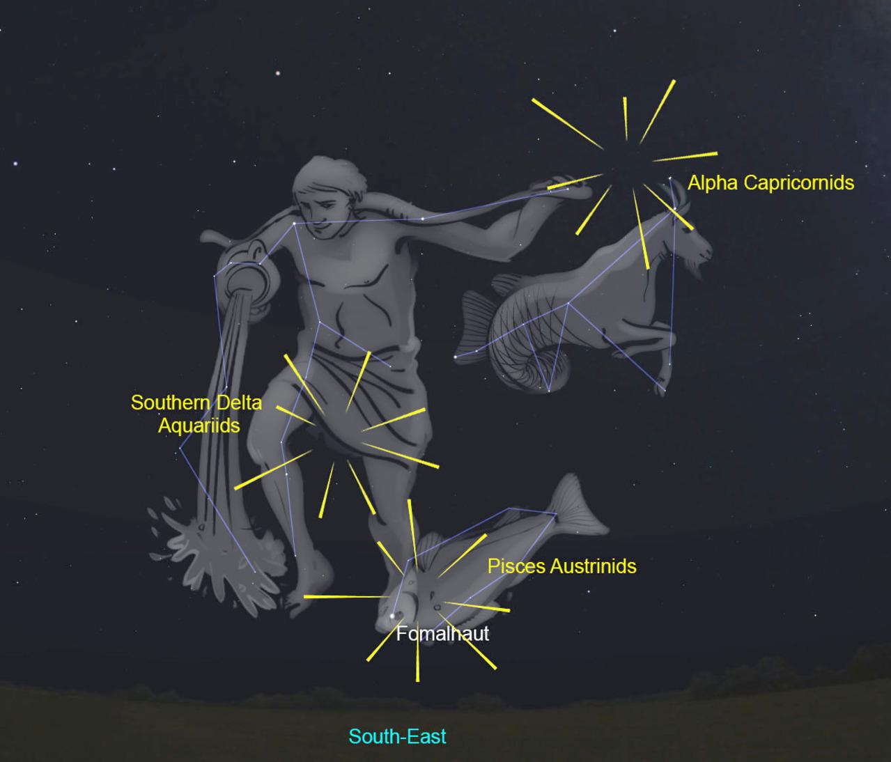 alpha capricornids 2016, alpha capricornid meteor shower 2016, alpha capricornid meteor shower