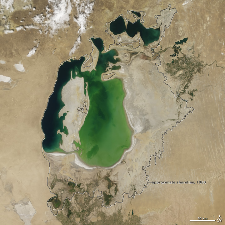 aral sea, aral sea disappearing, aral sea dry, dry aral sea, aral sea disappears slowly