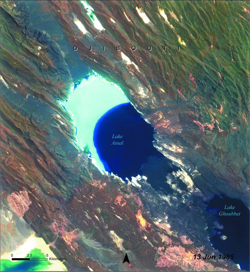 assal lake disappearing, assal lake drying up, assal lake dry
