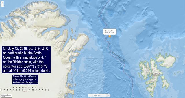 earthquake releases methane arctic ocean, earthquake releases methane arctic ocean greenland, earthquake arctic ocean releases methane gas, methane gas ejected after earthquake arctic ocean