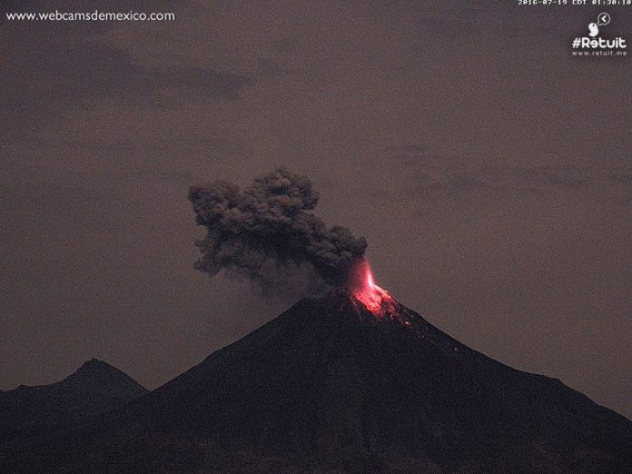 eruption colima volcano, eruption colima volcano july 19 2016, eruption colima volcano video, eruption colima volcano july 2016 video