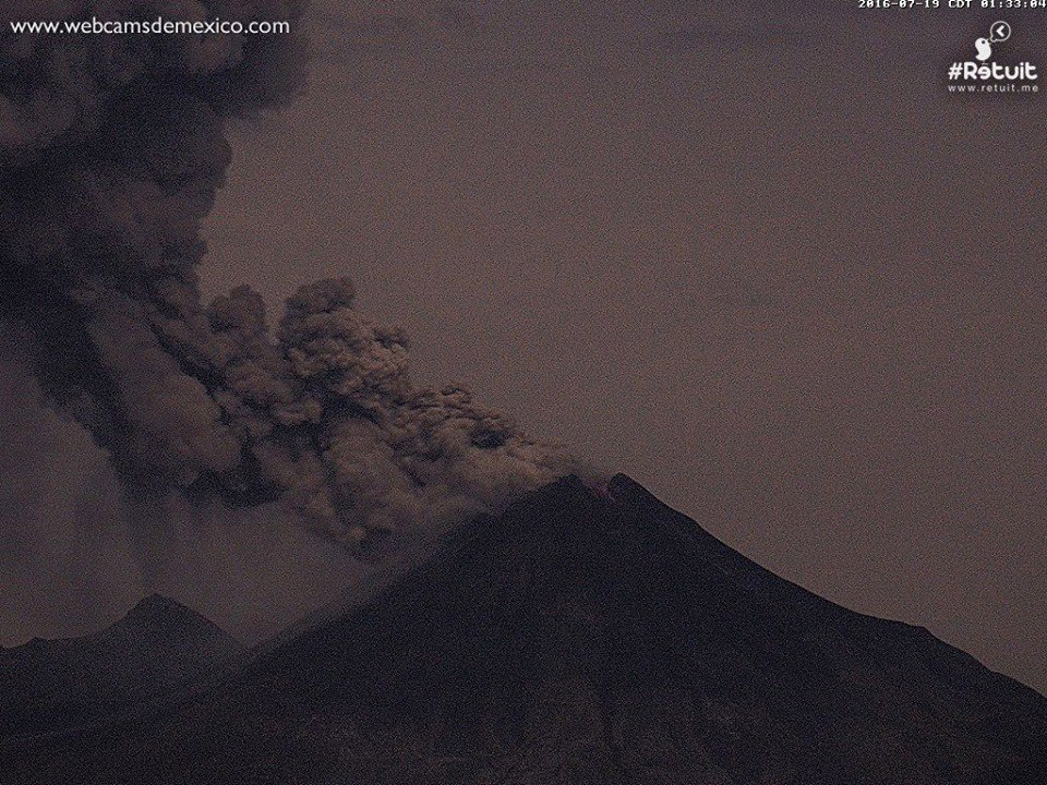 eruption colima volcano, eruption colima volcano july 19 2016, eruption colima volcano video, eruption colima volcano july 2016 video