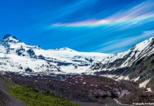 fire rainbow mt. rainier, fire rainbow mt. rainier picture, fire rainbow mt. rainier image, Circumhorizontal arc mt. rainier, mt rainier rainbow cloud