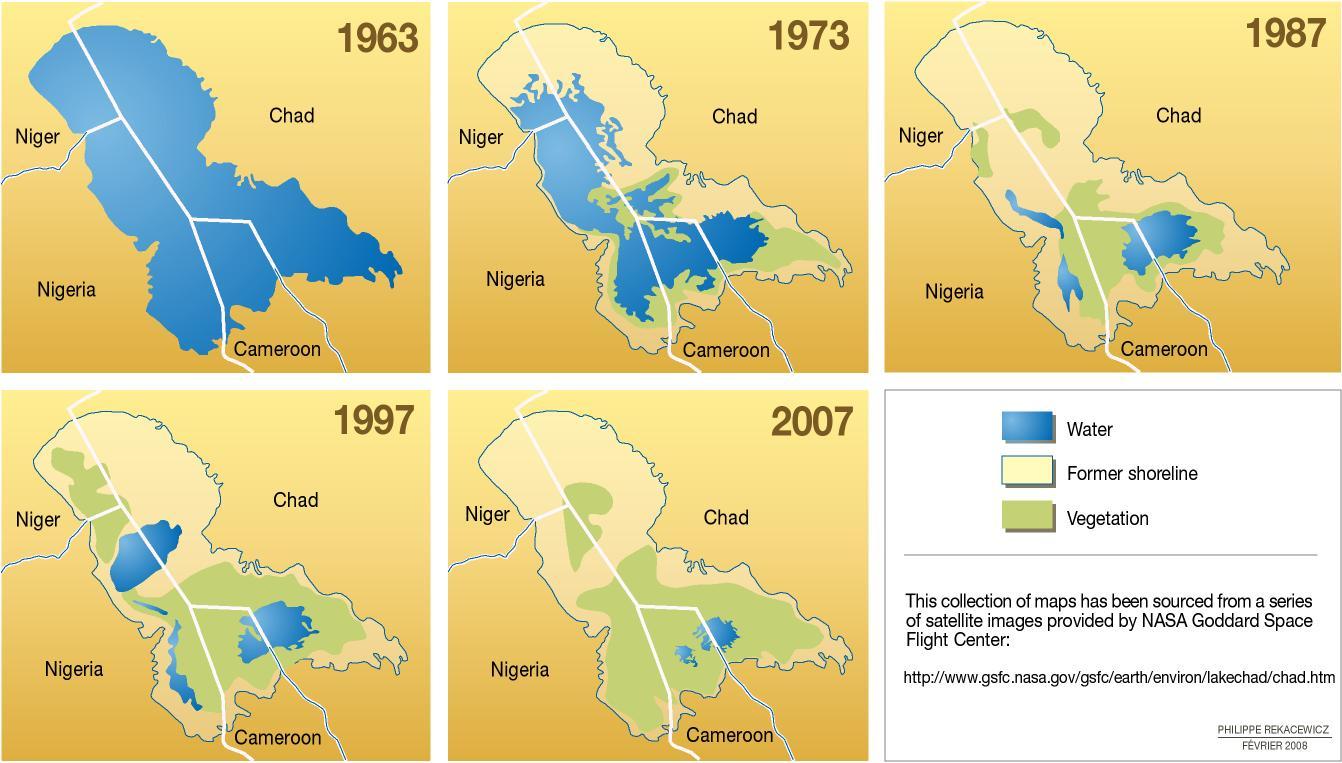lake chad disappearing, lake chad dry, lake chad drying up