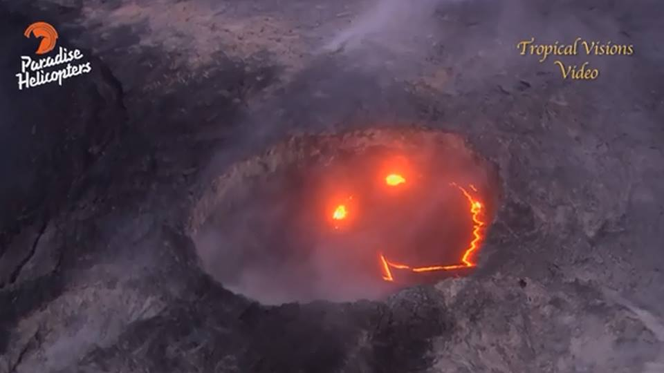laughing lava hawaii, kilauea lava laughing volcano, laughing volcano hawaii, after reaching ocean lava laughs in hawaii, laughing lava hawaii eruption