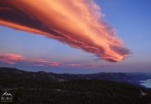 lenticular cloud lake tahoe, lenticular cloud lake tahoe pictures, lenticular cloud lake tahoe solstice, lenticular cloud lake tahoe summer solstice, eerie lenticular cloud lake tahoe 2016