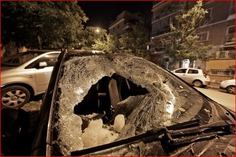 megacryometeor rome italy, megacryometeor crashes on car in rome italy, car destroyed by megacryometeor in rome italy, megacryometeor car rome, megacryometeor rome pictures