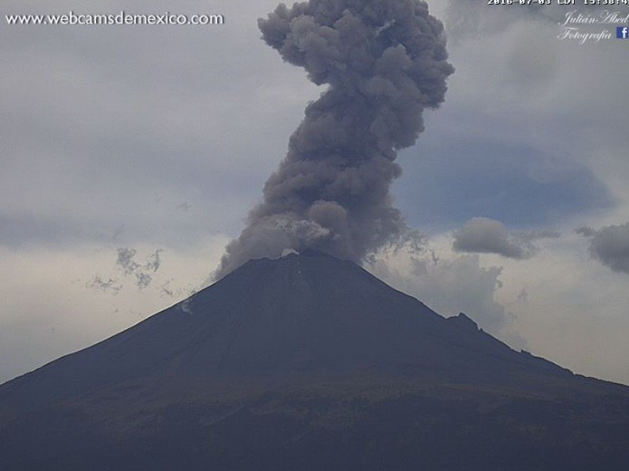 popocatepetl volcano eruption july 2016, popocatepetl volcano eruption july 2016 pictures, popocatepetl volcano eruption july 2016 video, popocatepetl volcano eruption july 3 2016, popocatepetl volcano eruption july 4 2016