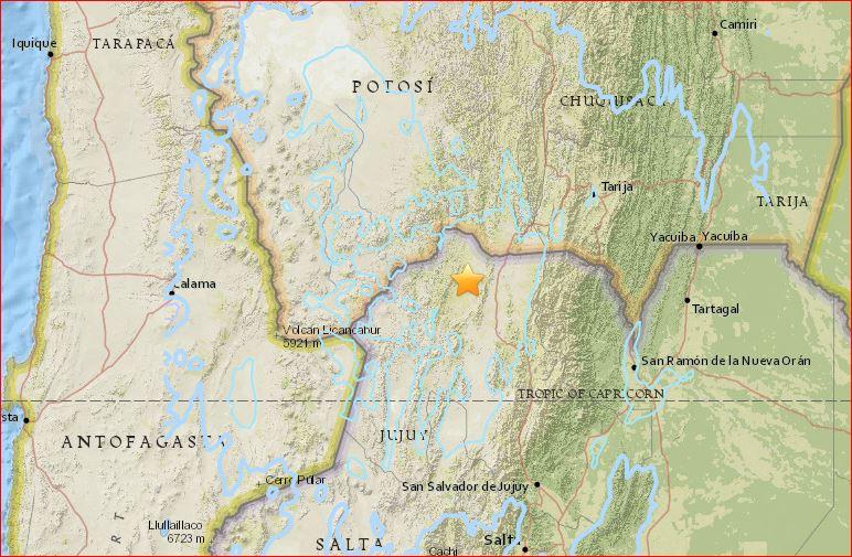 earthquake argentina, earthquake argentina august 4 2016, M6.1 earthquake argentina, M6.1 earthquake argentina august 4 2016, M6.1 earthquake argentina august 4 2016 map