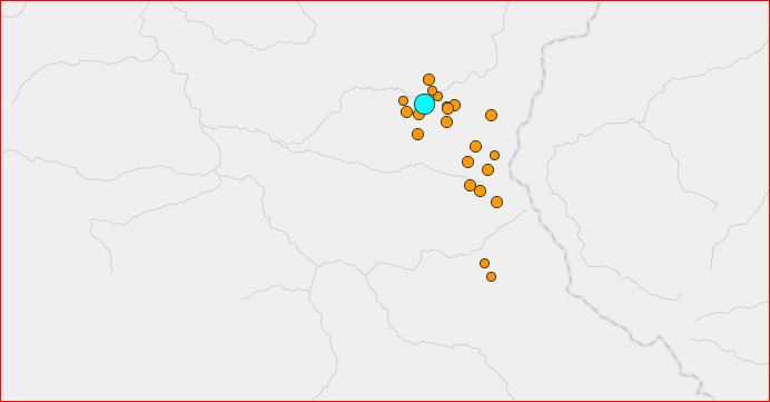 earthquake swarm upper lake california august 10 2016, earthquake swarm california august 9 2016, earthquake swarm california august 9 2016 map