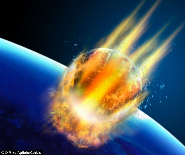 Massive tsunami waves produced by asteroid impact could
