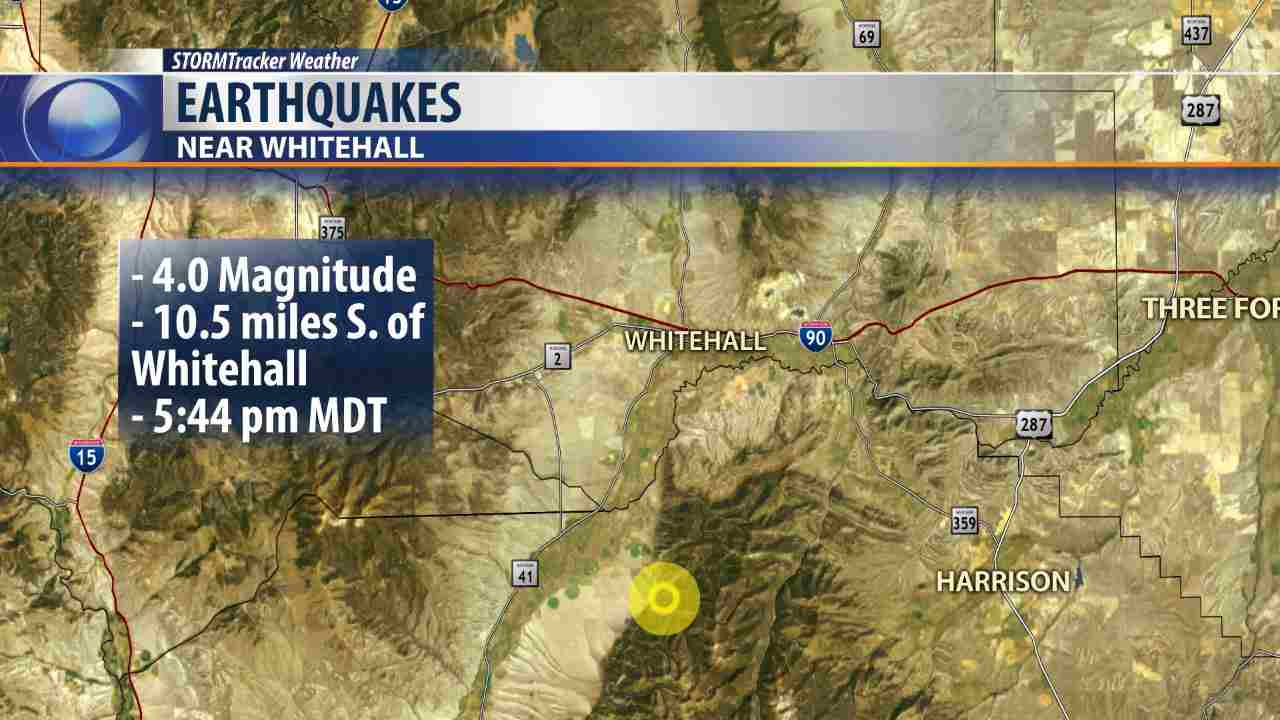 earthquake montana whitehall, earthquake montana september 2016, earthquake montana september 3 2016