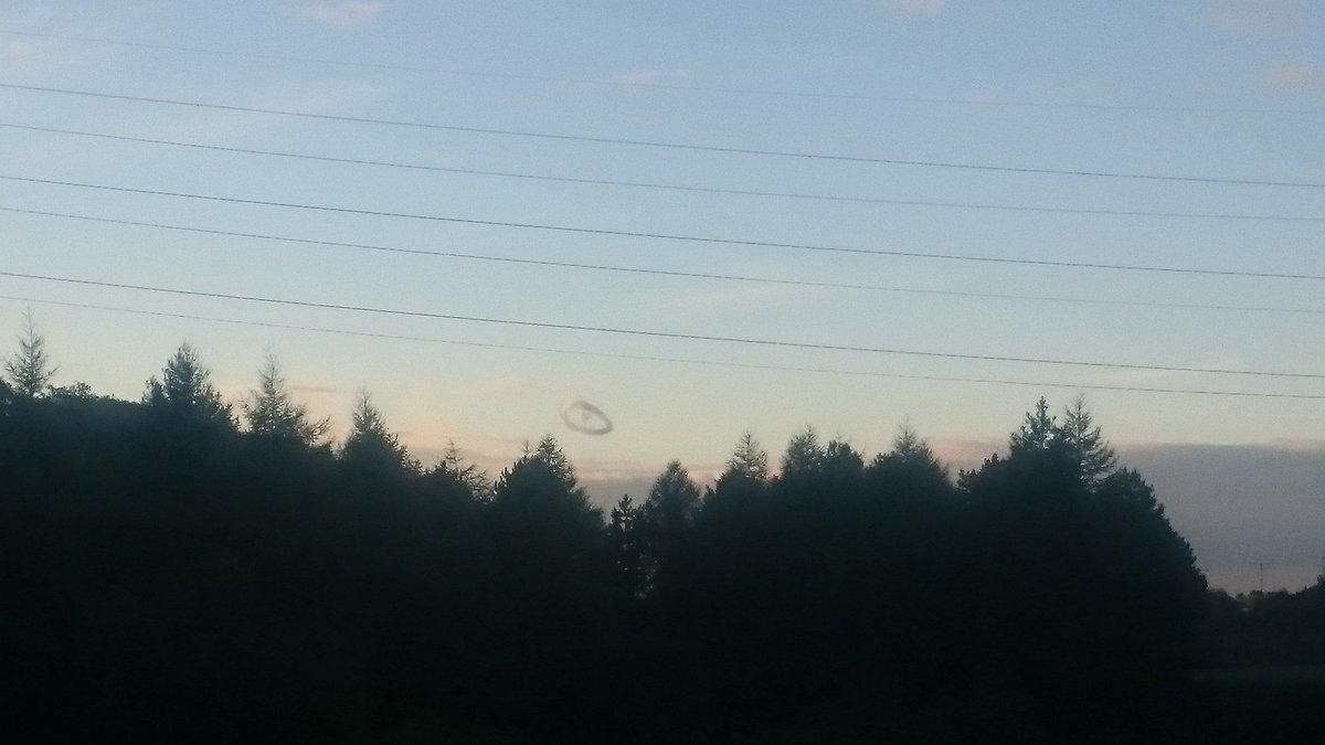 ring cloud, mysterious ring cloud baglan uk, donut shaped cloud baglan, mysterious ring cloud baglan uk september 2016, mysterious ring cloud baglan uk sept 20 2016