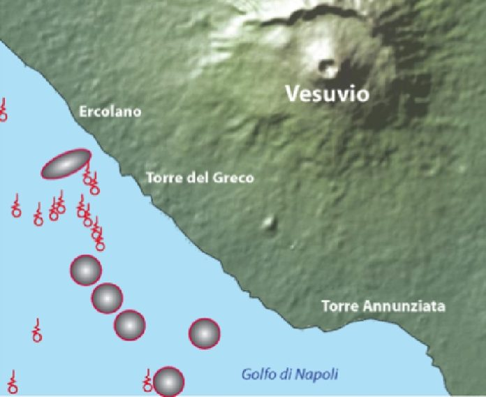 6 new underwater volcanoes near vesuvius, 6 new underwater volcanoes near vesuvius italy, 6 previously unknown volcano found in itly, italy new volcano discovery, vesuvius volcano discovery
