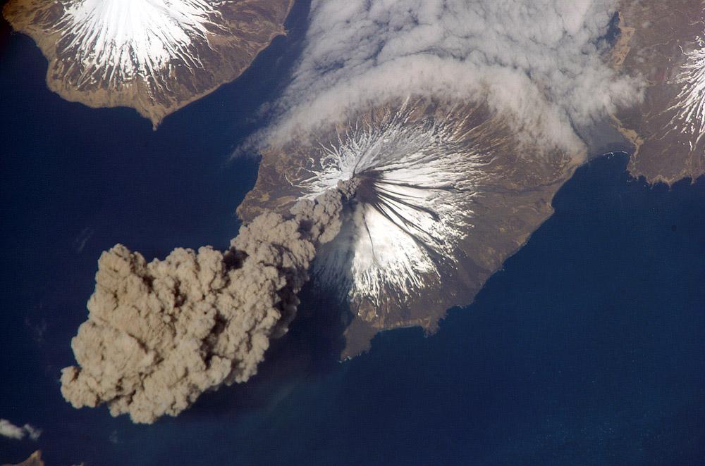 mt cleveland, cleveland volcano explosion, cleveland volcano erupts, cleveland volcano alert raised, alert raised at cleveland volcano