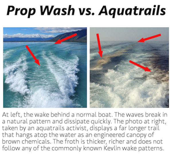 aquatrails, water chemtrail, chemtrail in the oceans, chemtrails of the sea
