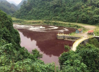blood red river guatemala, guatemala red river, river guatemal turns blood red, river guatemala red, water red guatemala, water turns red guatemala pictures, water turns red guatemala video