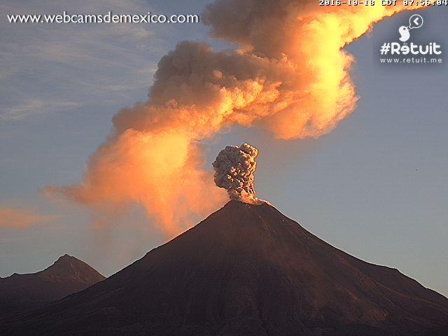 colima volcano, colima volcano eruption october 2016, colima volcano eruption october 2016 video, colima volcano eruption october 2016 pictures