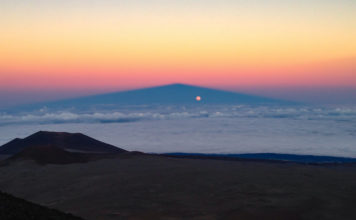 full moon mountain shadow, full moon Mauna Kea shadow, full moon Mauna Kea volcano shadow, full moon mountain shadow, full moon mountain shadow picture, full moon Mauna Kea shadow
