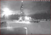 russia fireball, Large fireball explodes in the sky of Russia on October 25
