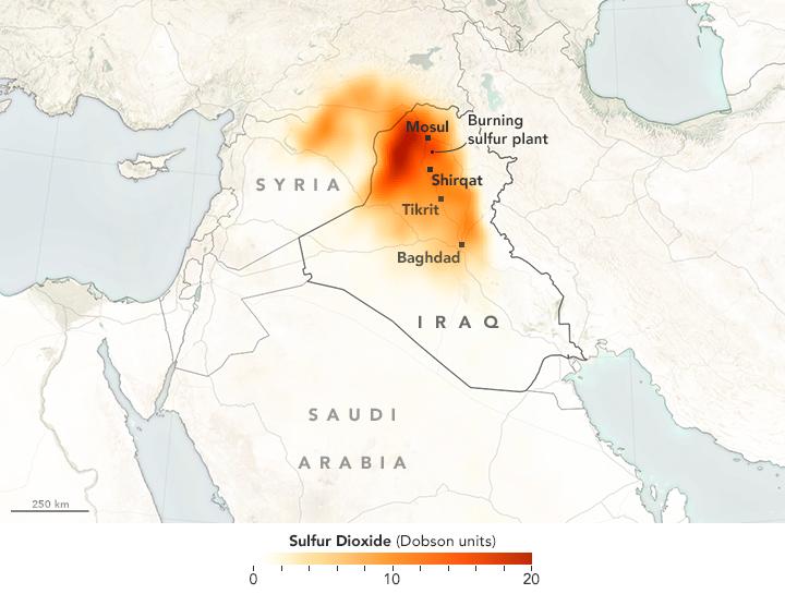 sulfur cloud irak, sulfur irak, sulfur cloud sweeps through irak, irak sulfur cloud